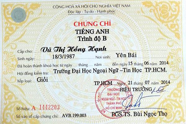 Tuyen Sinh chung chi anh van B tại tphcm