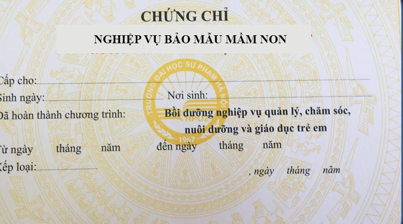 Tuyen Sinh chứng chỉ nghiệp vụ bảo mẫu Ở NINH BÌNH