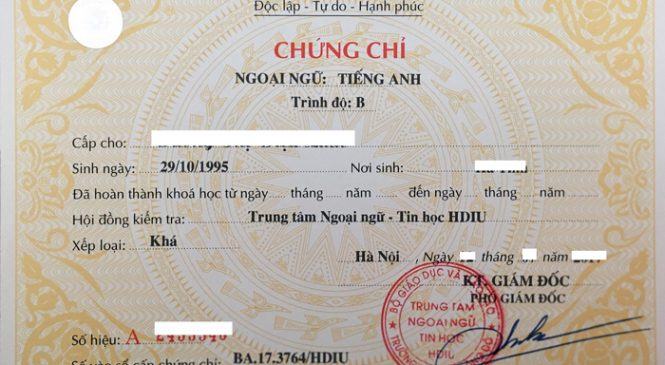 Tuyen Sinh Chung chi Chuyen Doi Xet Nghiem Tai quận 7