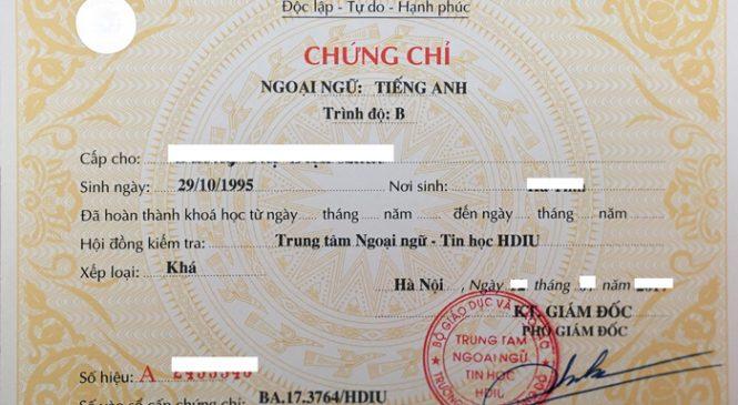 Tuyen Sinh chung chi tieng anh a Tại Nhà Bè