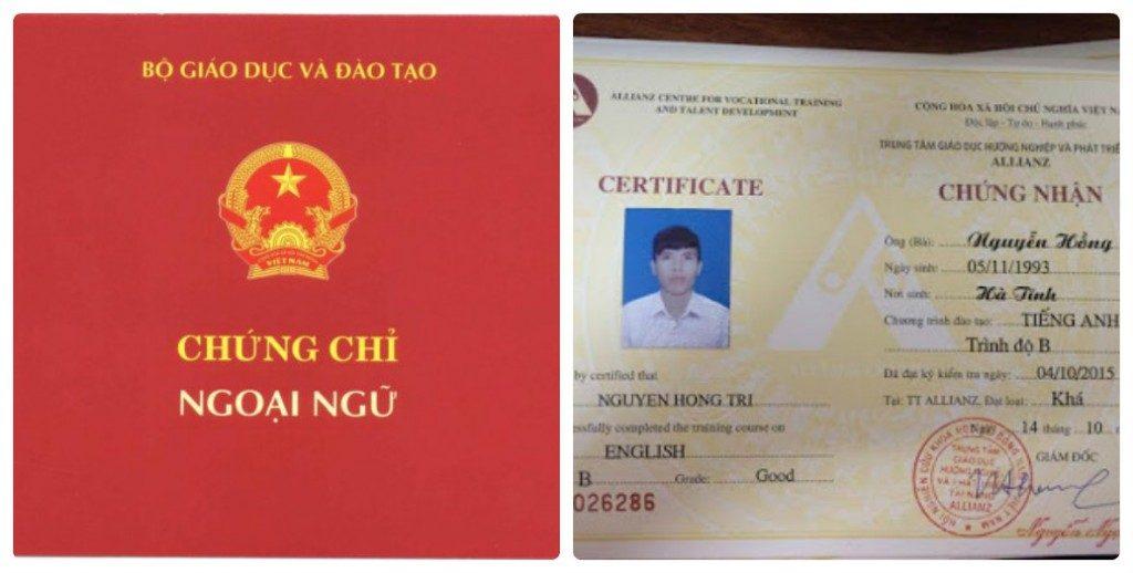 Tuyen Sinh chung chi a Tại quận 12