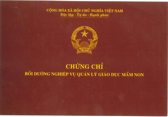 Tuyen Sinh chứng chỉ quản lý trường mầm non Ở QUẢNG NINH